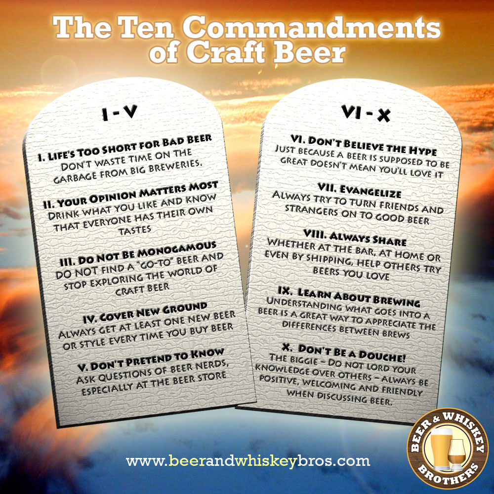 the ten commandments of craft beer beer u0026 whiskey brothers