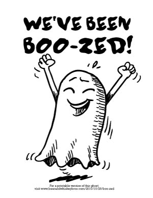 photograph regarding You've Been Boozed Printable titled Every little thing Oneself Need to have in the direction of BOO-ze Your Buddies for Halloween