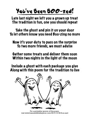 graphic about You've Been Booed Printable Pdf titled Every little thing Yourself Need to have in the direction of BOO-ze Your Pals for Halloween