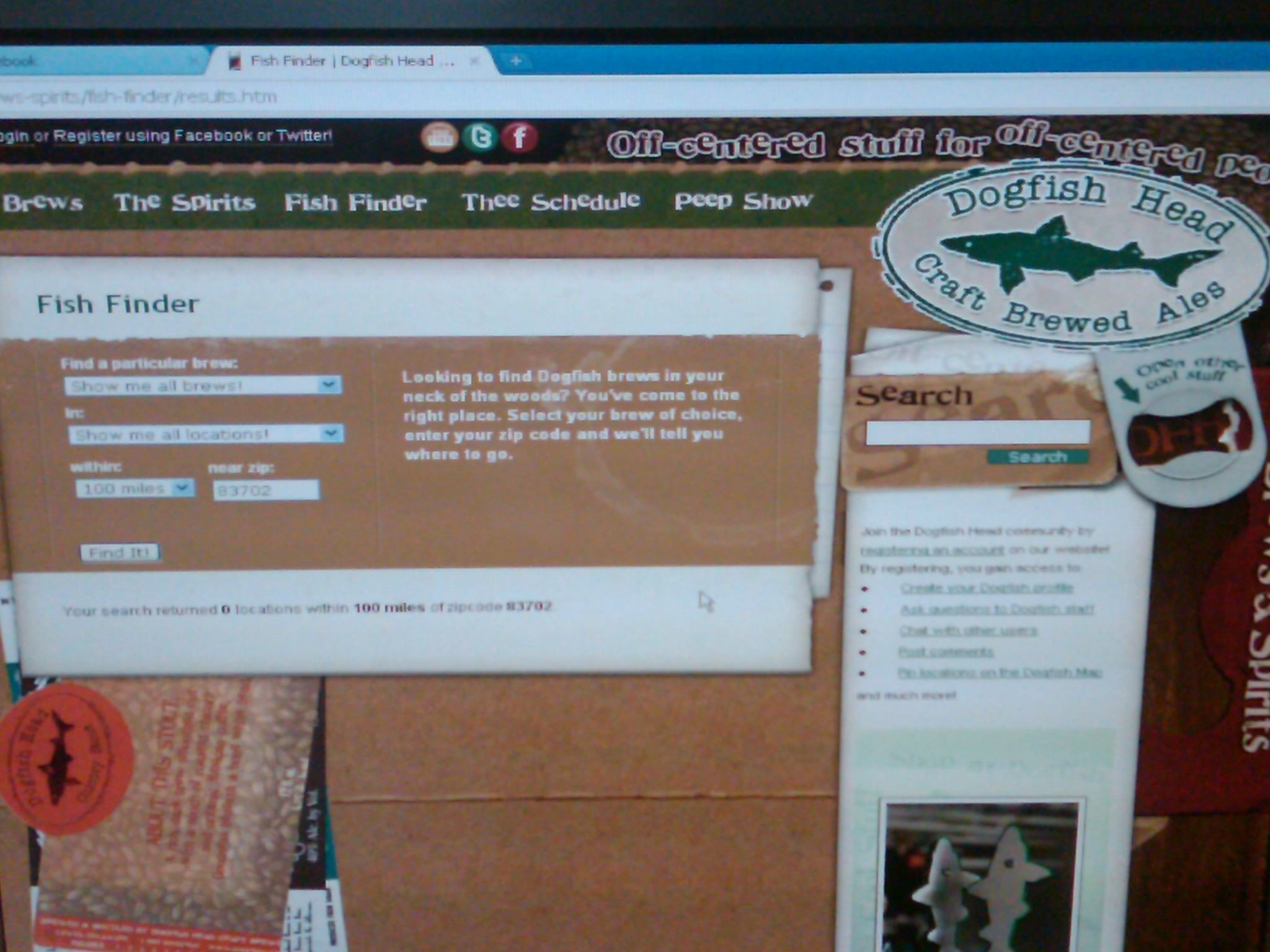 Dogfish Fish Finder | Dogfish Head Fish Finder Fail Beer Whiskey Brothers