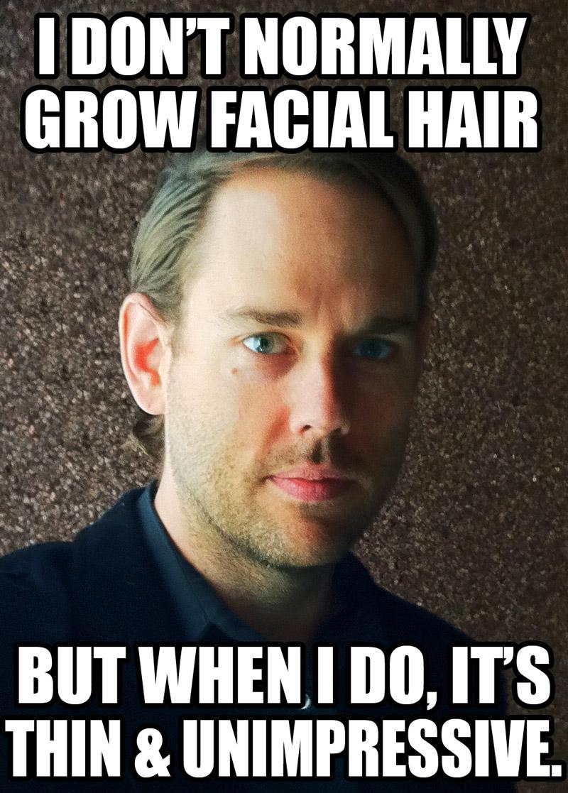 Everyone had facial hair and livejournal