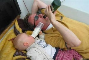 drinking with dad