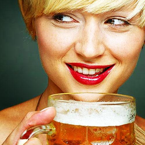 woman-beer