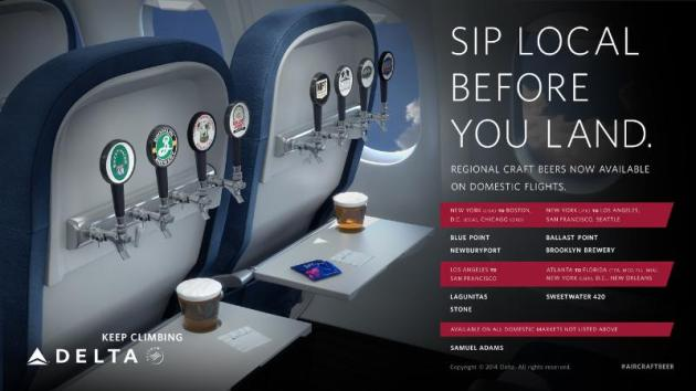 Delta Air Lines Regional Craft Beers